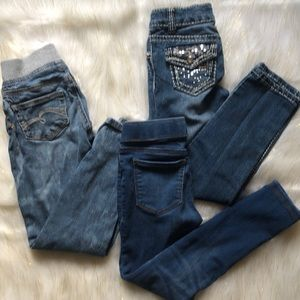 Bundle of 3 jeans Girls 7/8 Cherokee,Justice